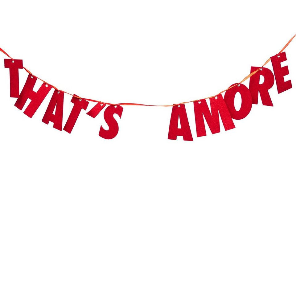 BUTLERS THAT'S AMORE »Girlande Filz That's Amore« in rot