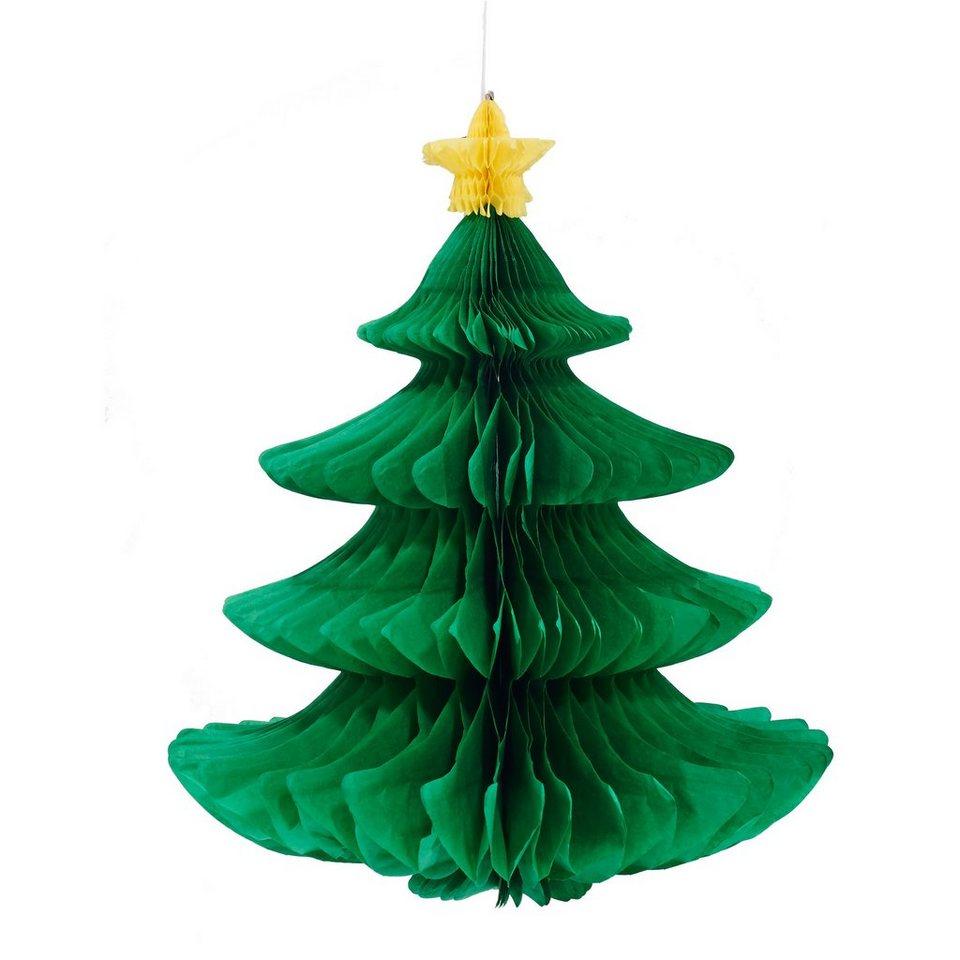 BUTLERS X-MAS »Papierdeko Weihnachtsbaum« in gruen