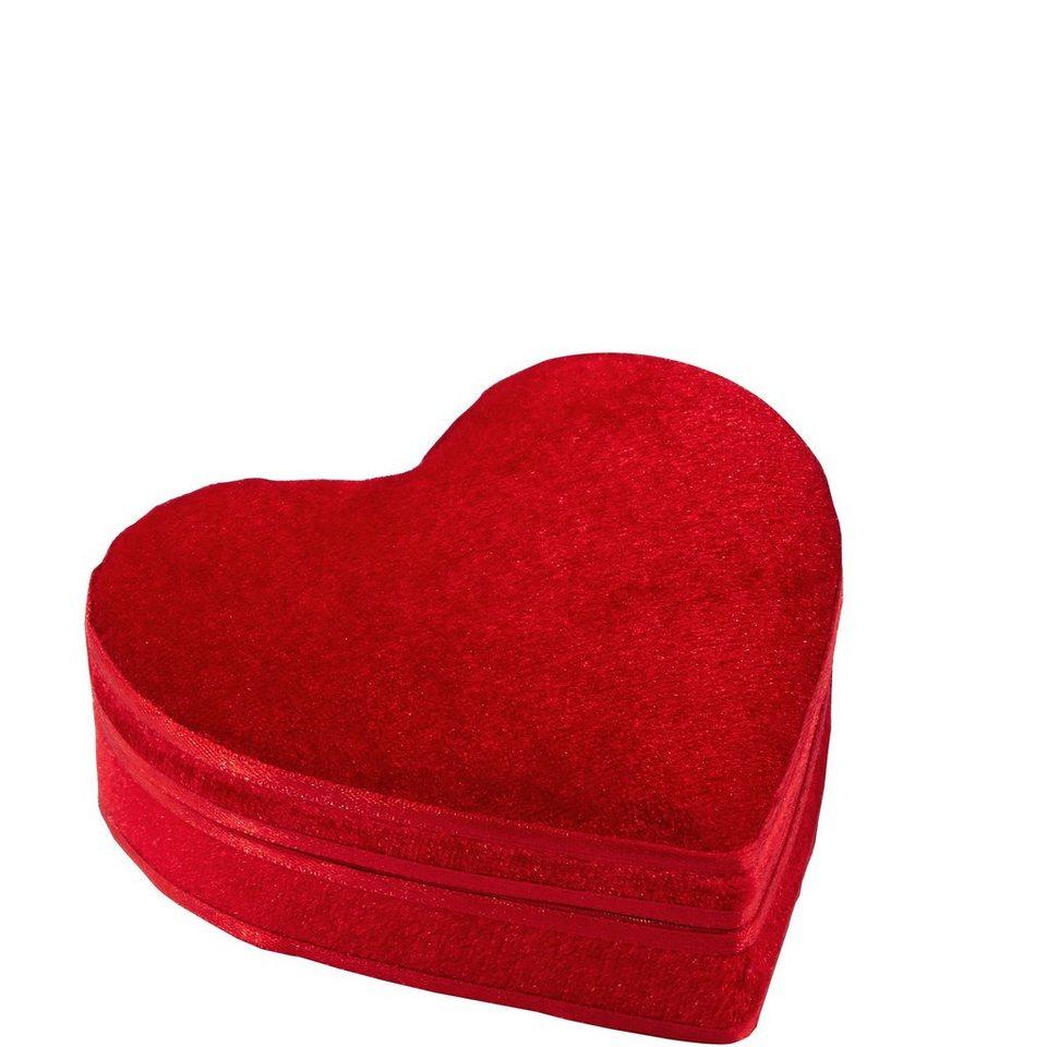 BUTLERS HEART »Herzdose samt klein« in rot