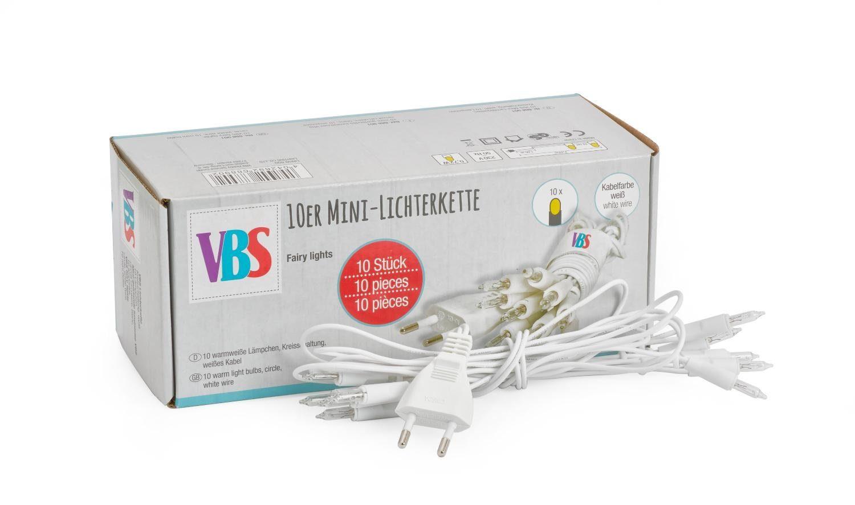VBS Großhandelspackung 10 x VBS 10er Mini-Lichterkette ohne Schalter