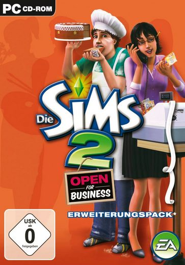 electronic arts software pyramide pc spiel die sims 2 open for business erweiterungspack. Black Bedroom Furniture Sets. Home Design Ideas