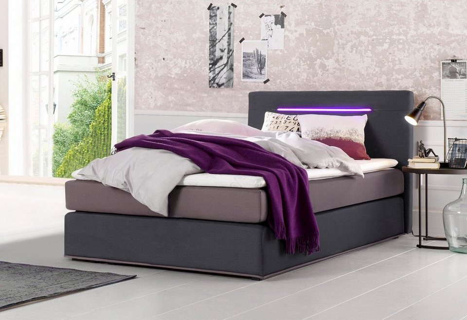 Collection AB Boxspringbett inkl. LED-Beleuchtung und Topper online ...