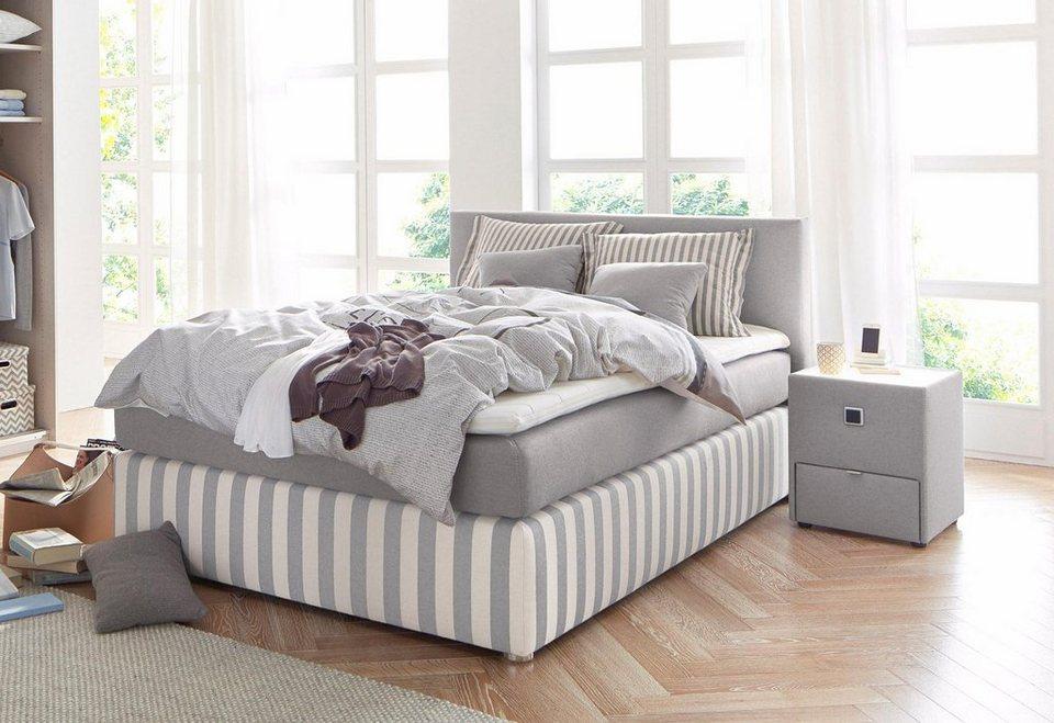 boxspringbett inkl topper und kissen set kaufen otto. Black Bedroom Furniture Sets. Home Design Ideas