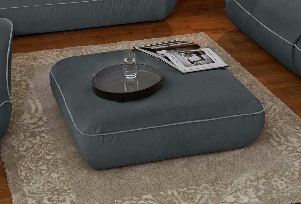 GMK Home & Living Polsterhocker »Nida« in graphit/grau