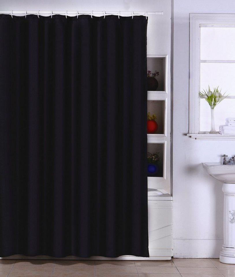 msv duschvorhang schwarz breite 180 cm kaufen otto. Black Bedroom Furniture Sets. Home Design Ideas