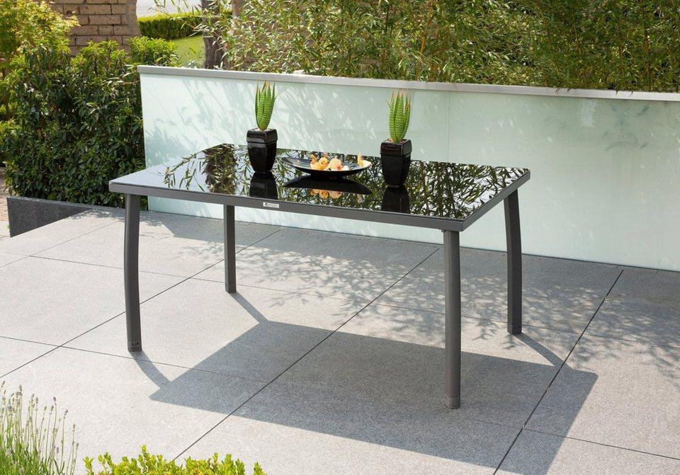 greemotion gartentisch faro 150x90x74 cm alu glas online kaufen otto. Black Bedroom Furniture Sets. Home Design Ideas