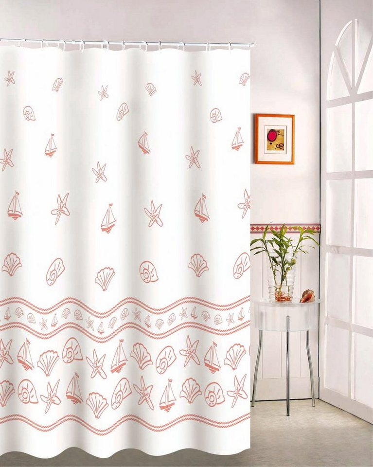 Msv duschvorhang rosa schalen online kaufen otto for Butlers duschvorhang
