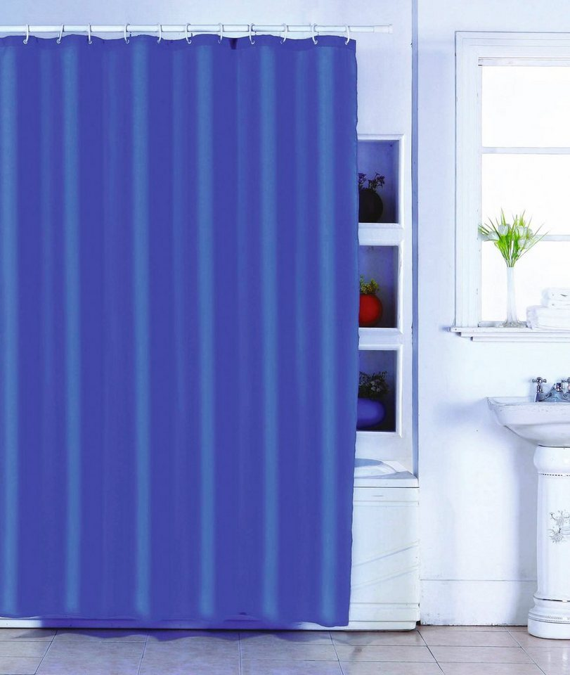 Msv duschvorhang dunkelblau online kaufen otto for Butlers duschvorhang