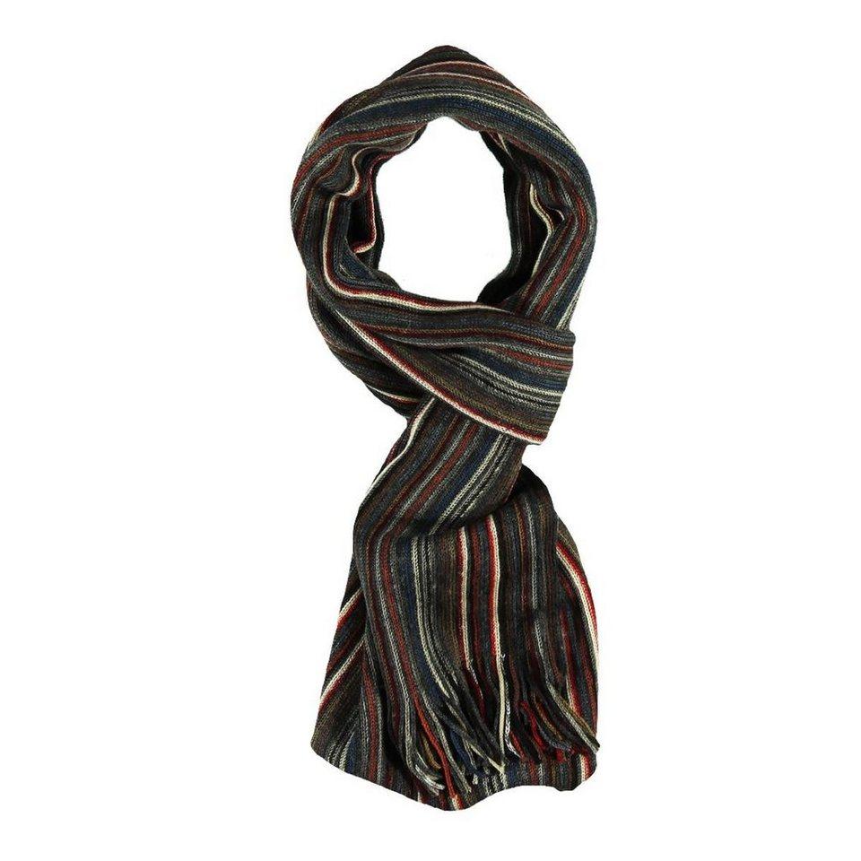 engbers Schal gemustert in Karminrot