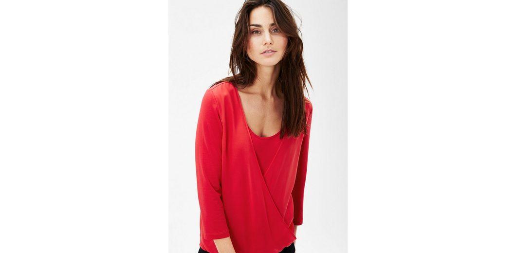 s.Oliver BLACK LABEL Shirt mit Chiffon-Layer Günstig Kaufen Outlet-Store Amazon Kaufen icY1OEcR0