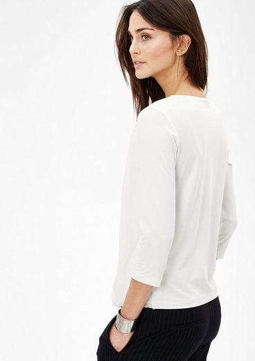 s.Oliver BLACK LABEL Shirt mit Chiffon-Layer