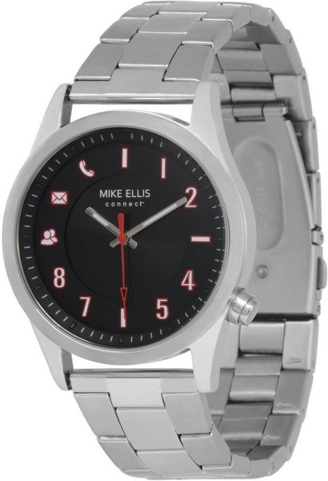 Mike Ellis Connect Smartwatch »Watch Senator Edelstahl, Glieder« in Silber