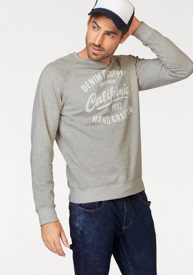 John Devin Sweatshirt in grau-meliert