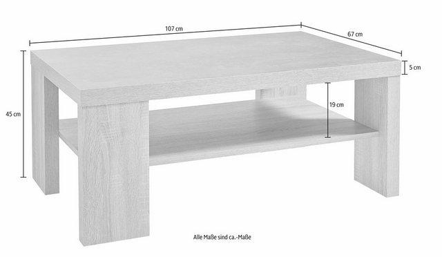 Wohnzimmertische - PRO Line Couchtisch, mit Ablageboden  - Onlineshop OTTO