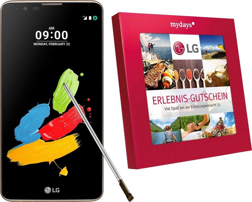 LG Stylus II Smartphone, 14,5 cm (5,7 Zoll) Display, LTE (4G), Android 6.0 (Marshmallow) in braun