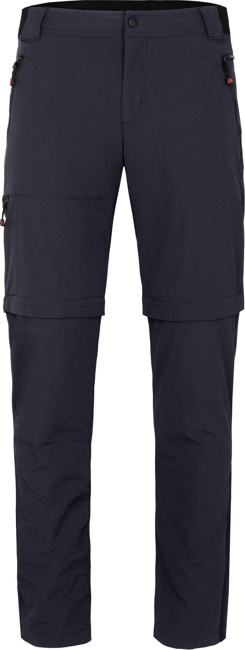 Bergson Zip-off-Hose »ARRESÖ COMFORT Zipp-Off (slim)« Herren Wanderhose, leicht, strapazierfähig, Kurzgrößen, Nacht blau