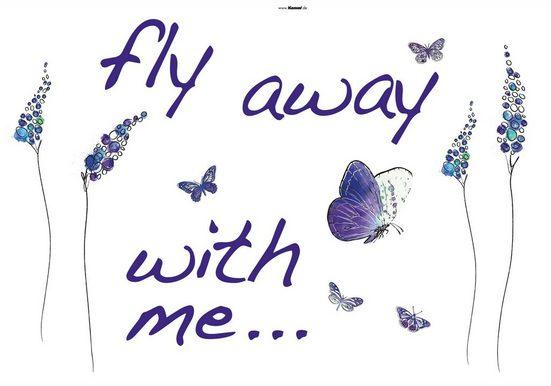 KOMAR Packung: Wandtattoo »Butterflies«, 17-teilig