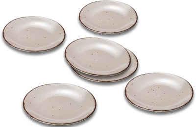 ARTE VIVA Speiseteller »Puro«, (6 Stück), aus Steinzeug, vom Sternekoch Thomas Wohlfarter empfohlen, Ø 26,5 cm