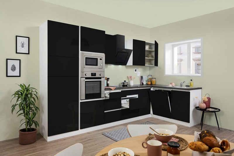 RESPEKTA Winkelküche »Usedom«, mit E-Geräten, mit Soft-Close Funktion, Breite 345 x 172 cm