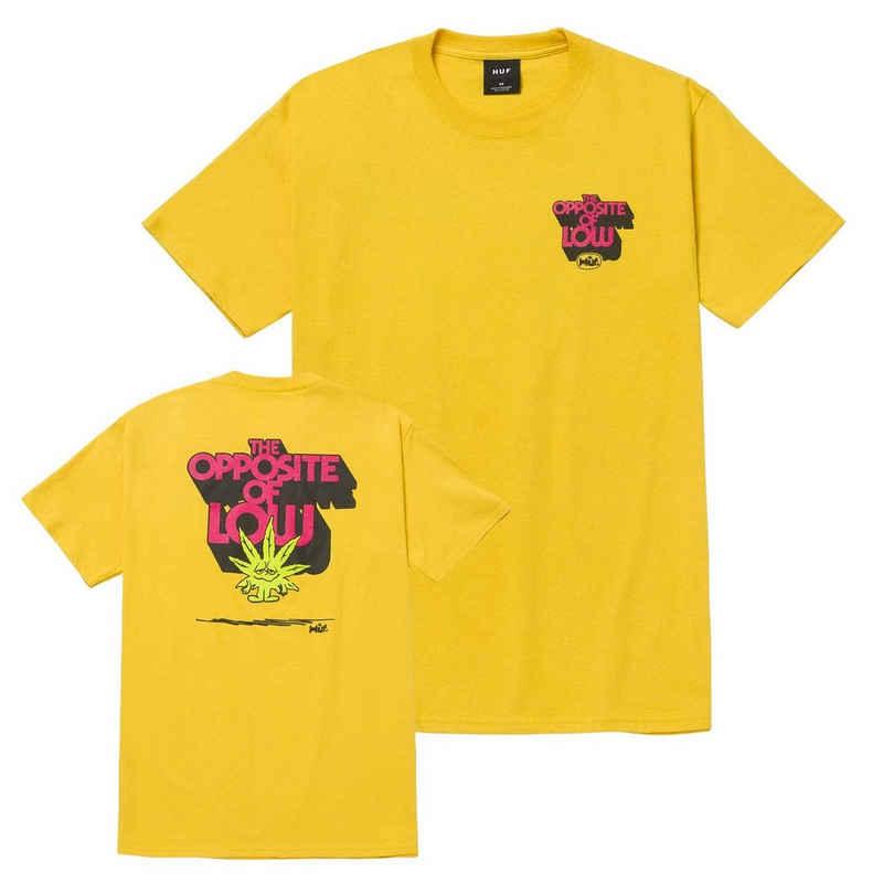 HUF T-Shirt »Opposite of Low - golden«
