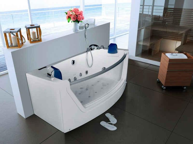 HOME DELUXE Whirlpool-Badewanne »Cadiz M«, (1-tlg), B/T/H: 175 / 85 / 60 cm