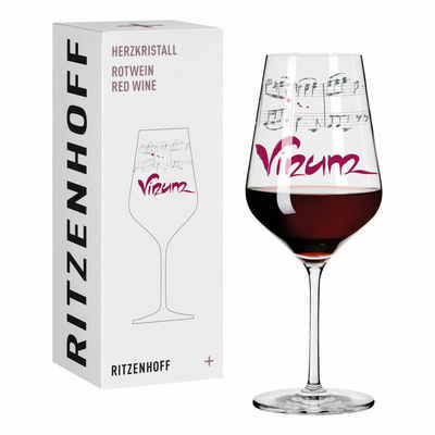 Ritzenhoff Rotweinglas »Herzkristall Rotwein 002«, Kristallglas, Made in Germany