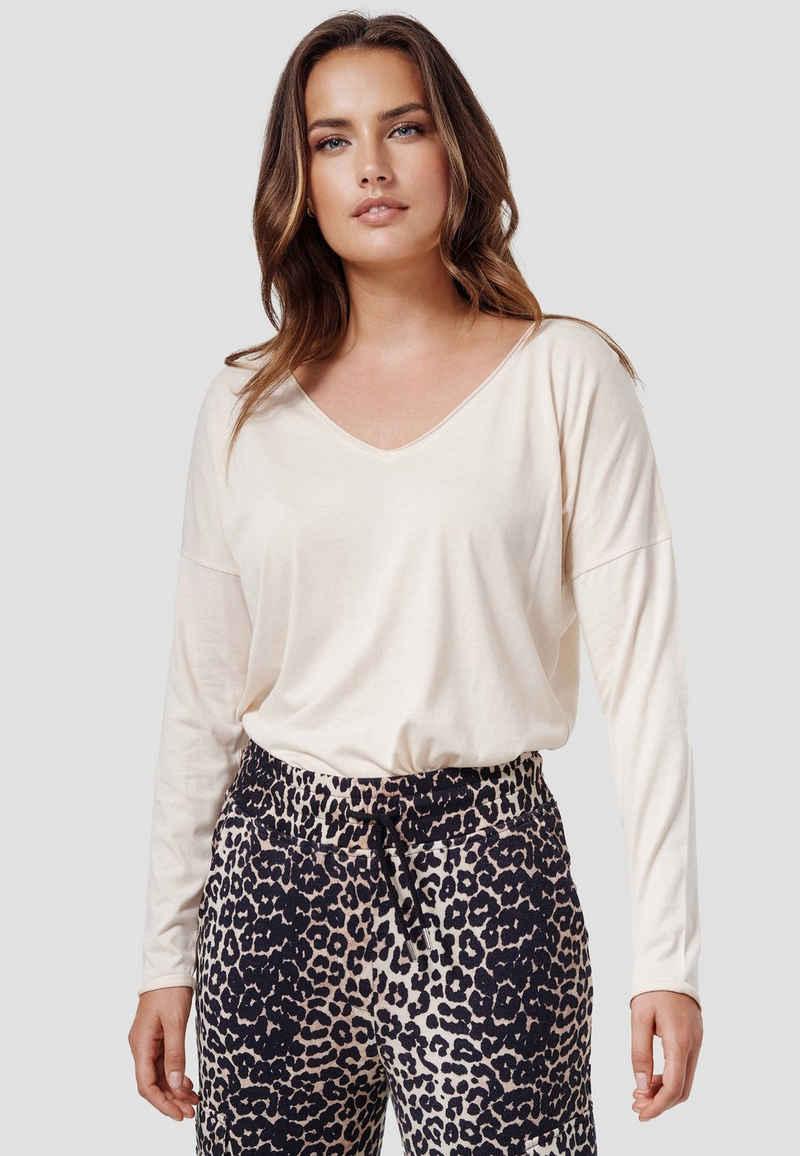 Cotton Candy T-Shirt »NOELLE« mit V-Ausschnitt