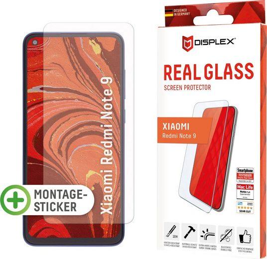 Displex »DISPLEX Real Glass Panzerglas für Xiaomi Redmi Note 9 (6,5), 10H Tempered Glass, mit Montagesticker, 2D« für Xiaomi Redmi Note 9, Displayschutzglas, 1 Stück