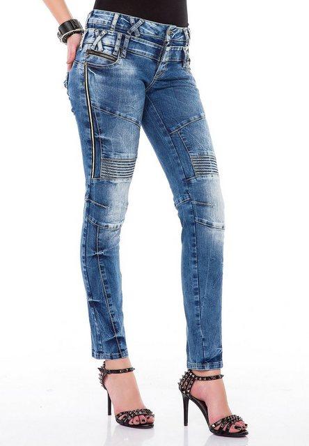 Hosen - Cipo Baxx Slim fit Jeans mit doppeltem Taillenbund in Skinny Fit ›  - Onlineshop OTTO