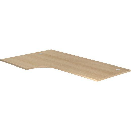 bümö Tischelement »OM-PL82«, Schreibtischplatte DIY Tischplatte - Eckform: 200x120 cm - Dekor: Eiche