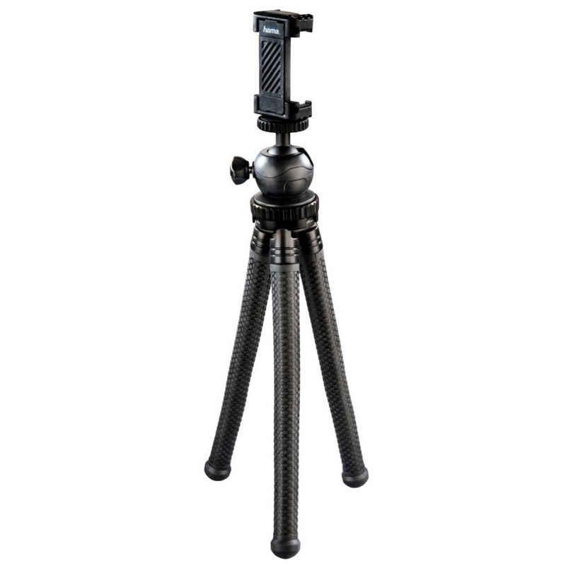 Hama »Flex-Pro Flexibles Mini-Stativ 27cm Tripod« Handy-Halterung, (Beine mit 360°-Biegung, für Kamera, Handy, GoPro, Gummifüße mit Struktur, mit einklappbarer Smartphone-Halterung)