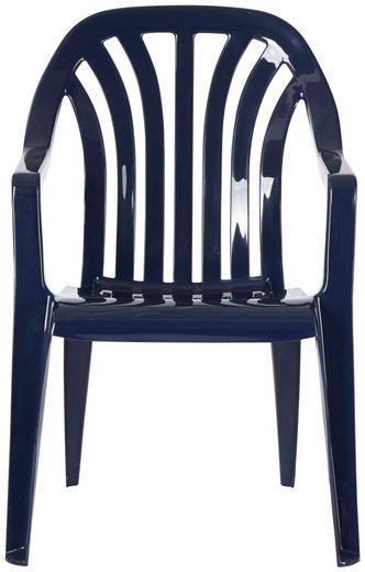 Best Gartenstuhl »Laredo« (Set, 4 Stück), 4er Set, Kunststoff, stapelbar, blau