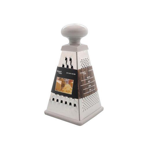 Neuetischkultur Küchenreibe »Vierkantreibe Edelstahl Pyramide«, Edelstahl