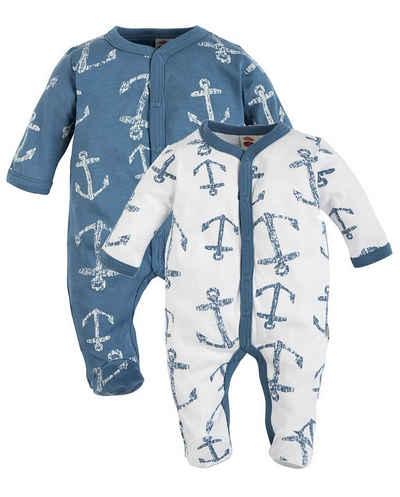 Makoma Strampler »Baby Schlafstrampler Strampler Pyjama Schlafanzug für Jungen & Mädchen BlueSea« (Set, 2er-Pack) 100% Baumwolle