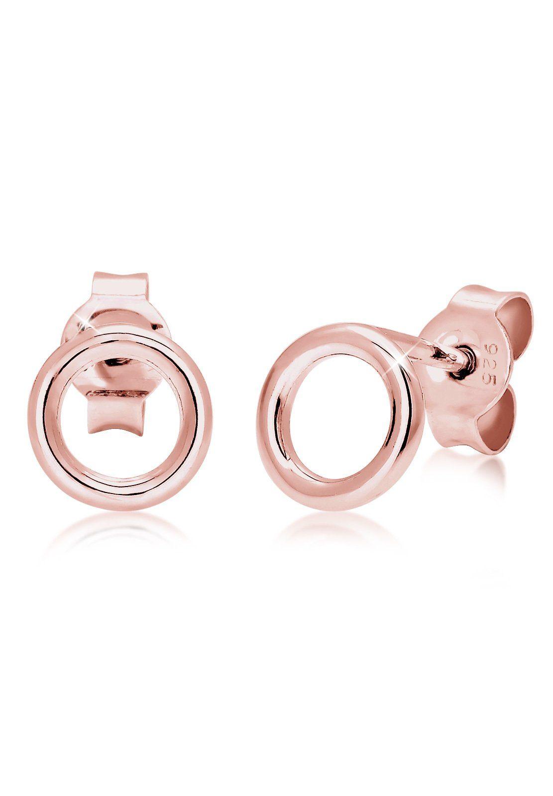 Elli Paar Ohrstecker »Basic Kreis Rund Geo Minimal 925 Sterling Silber«, Geo online kaufen | OTTO