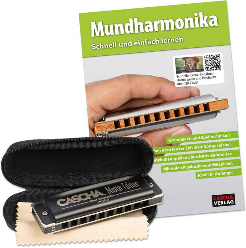 Cascha Mundharmonika-Set »Master Edition Blues Harmonica«, C, inkl. Lernbuch