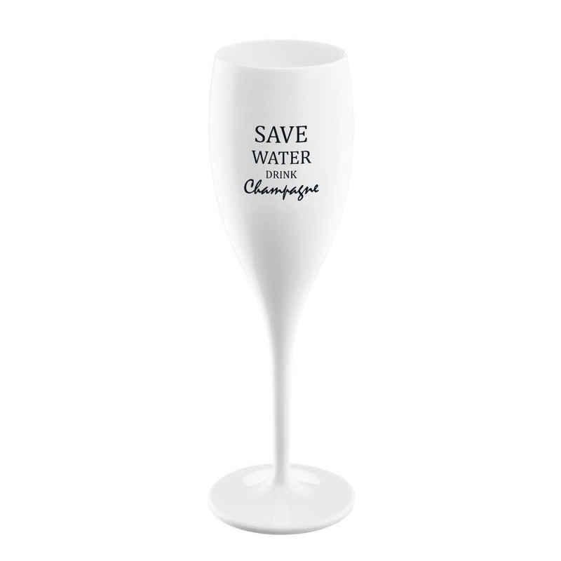 KOZIOL Champagnerglas »Cheers No. 1 Save Water Drink Champagne«, Kunststoff