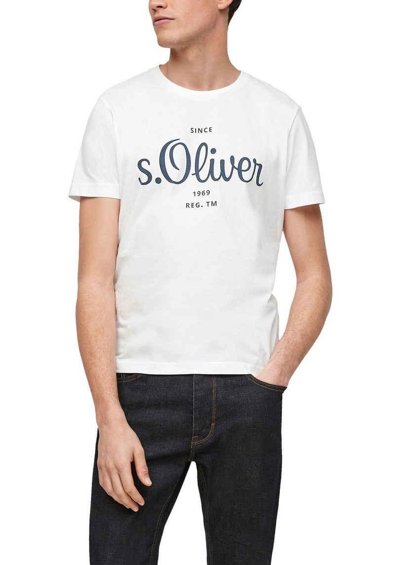 s.Oliver T-Shirt mit markantem Logo-Print