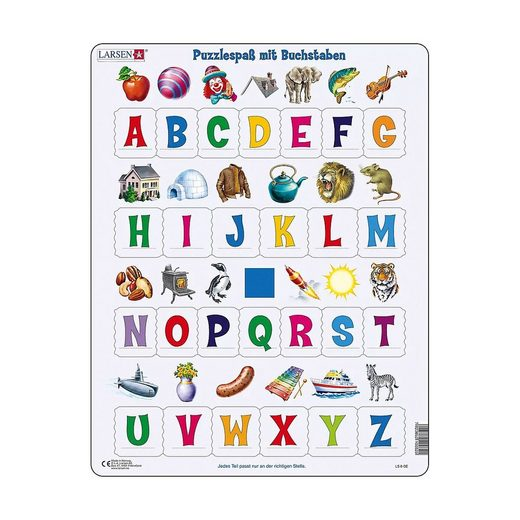 Larsen Puzzle »Rahmen-Puzzle, 26 Teile, 36x28 cm, Puzzlespaß mit«, Puzzleteile