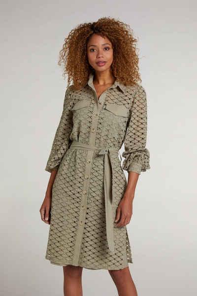 Oui Blusenkleid »Hemdblusenkleid aus Lochspitze«