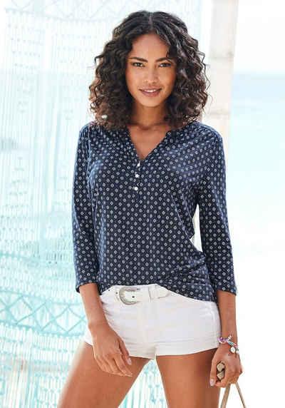 LASCANA 3/4-Arm-Shirt in modischer Blusenoptik