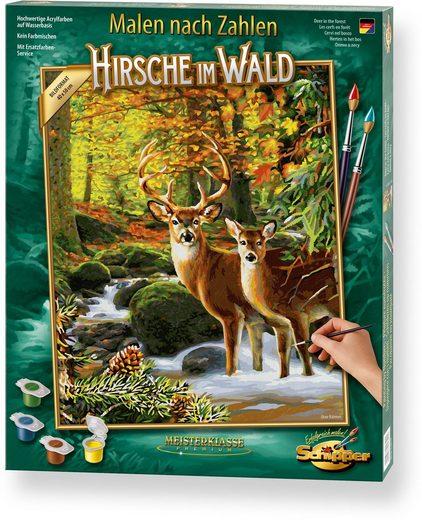 Schipper Malen nach Zahlen »Meisterklasse Premium - Hirsche im Wald«, Made in Germany