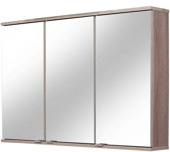 FACKELMANN Spiegelschrank »Lavella und Rondo« Breite 100,5 cm, Badspiegelschrank mit Sofclose-Türen