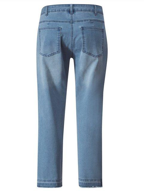 Hosen - Angel of Style by HAPPYsize 5 Pocket Jeans mit dunklem Streifen seitlich ›  - Onlineshop OTTO