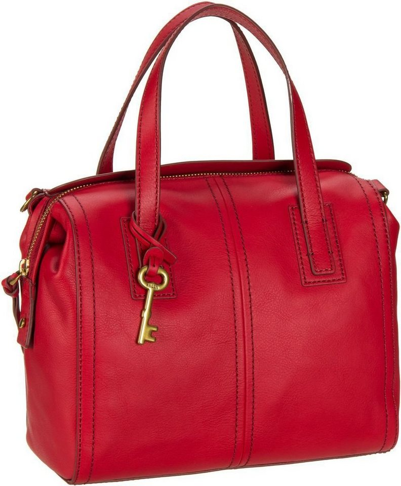 Fossil Emma Satchel in Crimson