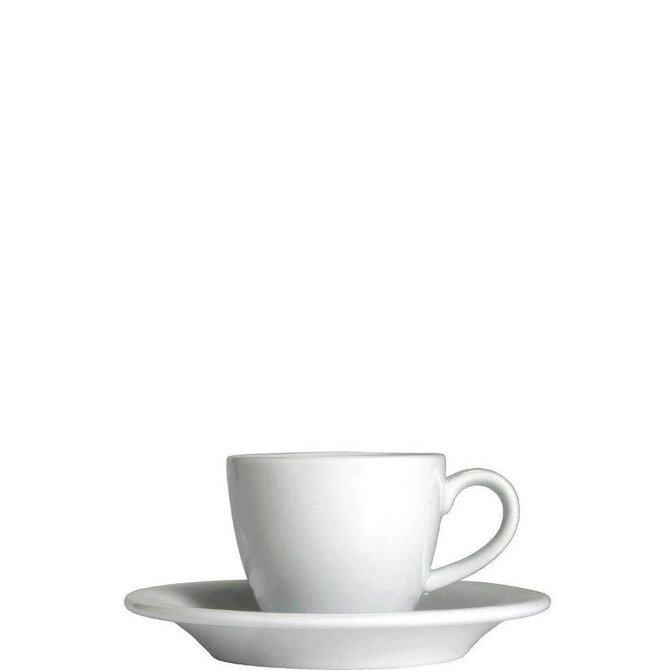 BUTLERS PURO »Espressotasse mit Untertasse« in weiss