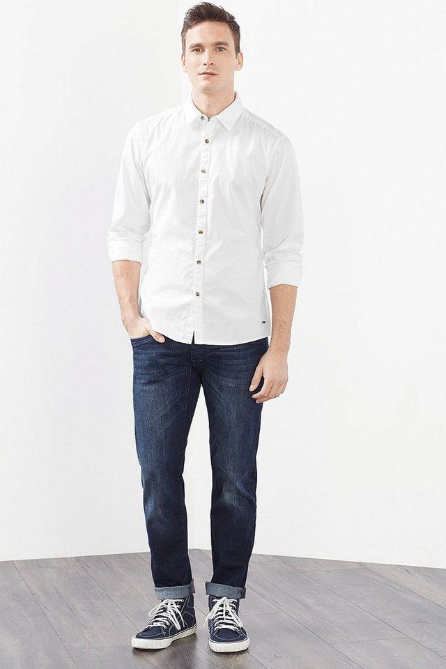 EDC Basic Hemd, 100% Baumwolle in WHITE