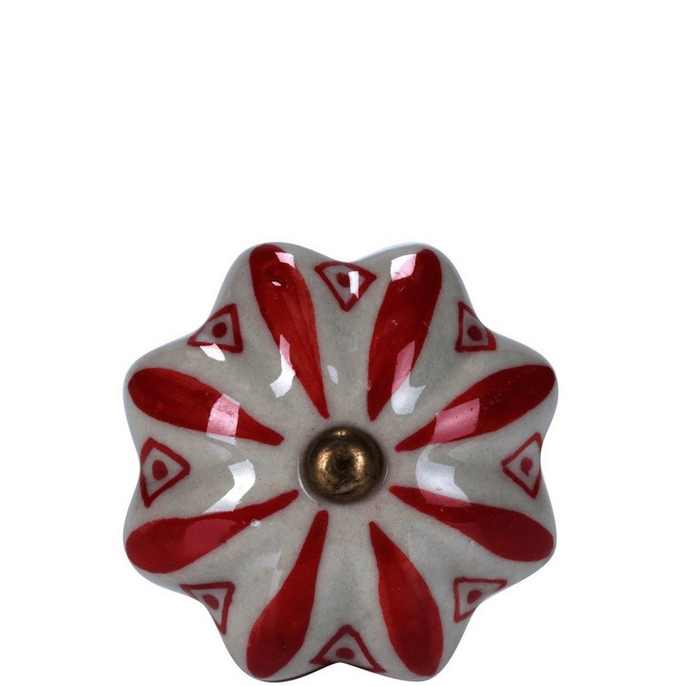 BUTLERS OPEN »Möbelknopf Ornament« in Rot