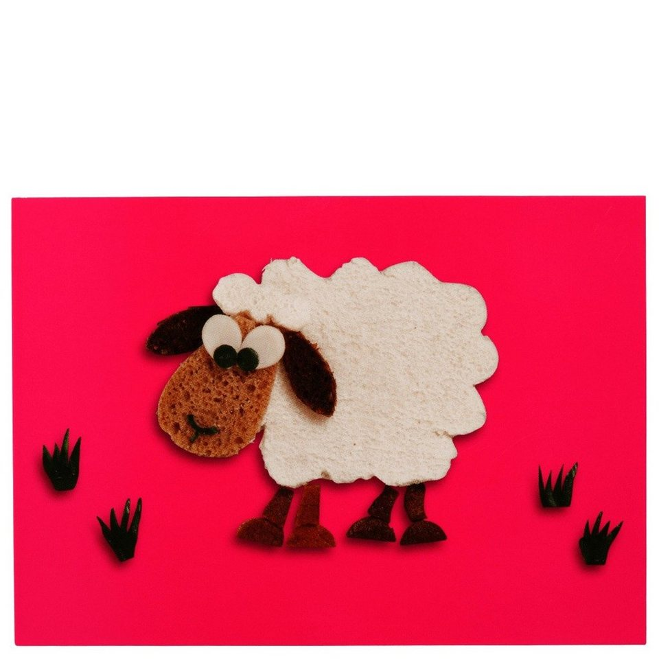 BUTLERS CARD »Postkarte Sandwich-Schaf« in Pink