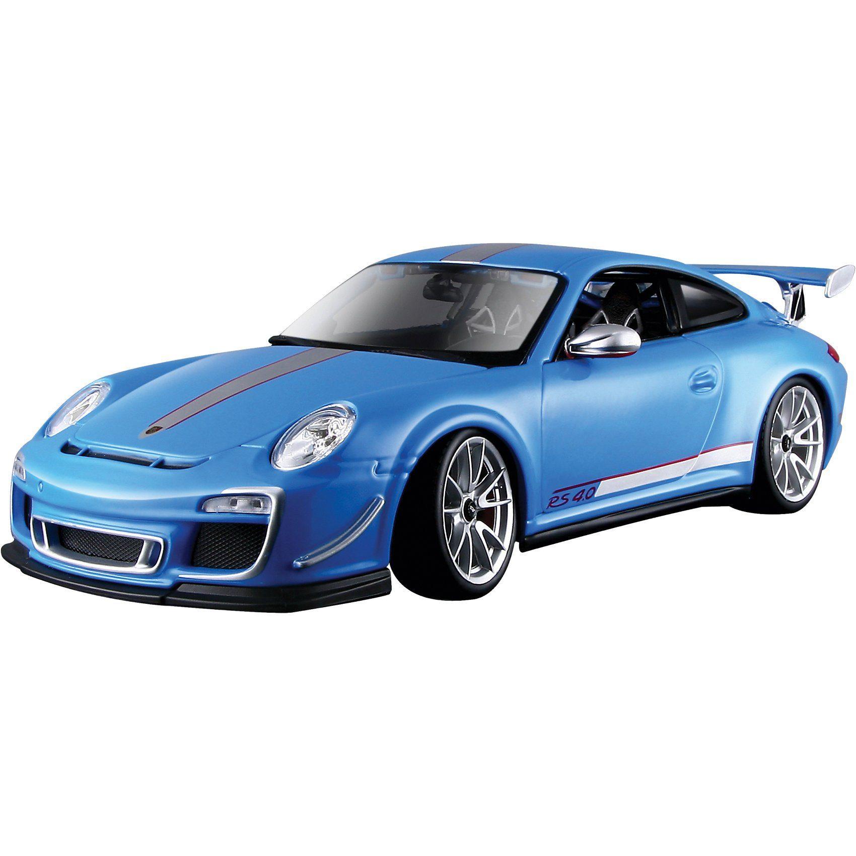 Bburago Porsche GTS RS 4.0, hellblau 1:18